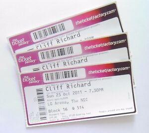 CLIFF-RICHARD-MEMORABILIA-Unused-Tickets-Stubs-Birmingham-LG-Arena-23-10-11