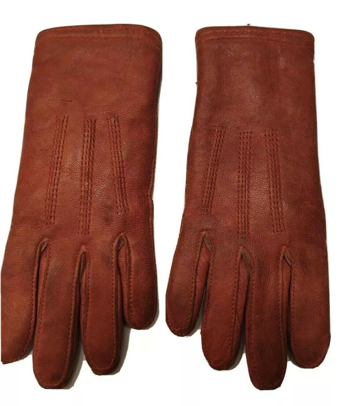 **Antique Tiny Child Early 1900 - Vintage Leather Gloves.