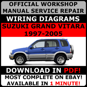 Official workshop service repair manual for suzuki grand vitara 1997 image is loading official workshop service repair manual for suzuki grand cheapraybanclubmaster Images