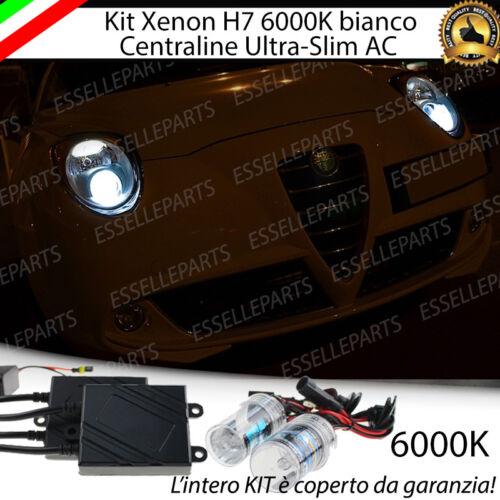KIT XENON XENO H7 AC 6000 K 35W PER ALFA ROMEO MITO ULTRALUMINOSI CON GARANZIA