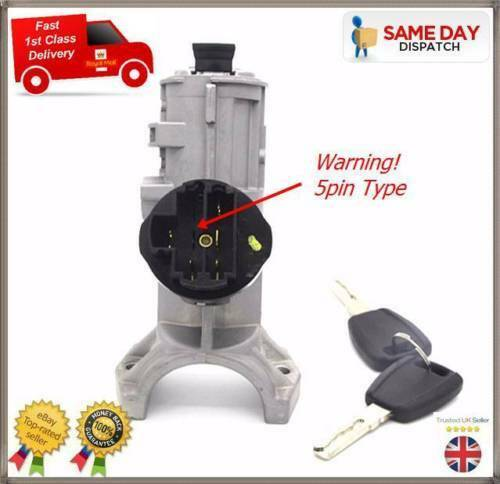 FIAT DUCATO BOXER RELAY 2006-present NEW IGNITION LOCK BARREL SWITCH /& KEYS 5PIN