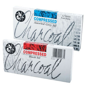 Jakar-Compressed-Charcoal-Assorted-Black-or-Grey-Tones-Sets-12-Sticks