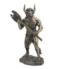 """11"""" Minotaur w/ Labrys Statue Sculpture Figure Greek Mythology Figurine"""