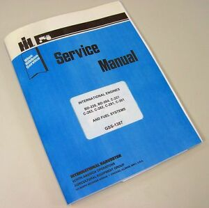 INTERNATIONAL FARMALL 460 GAS & LP TRACTOR ENGINE SERVICE REPAIR OVERHAUL MANUAL