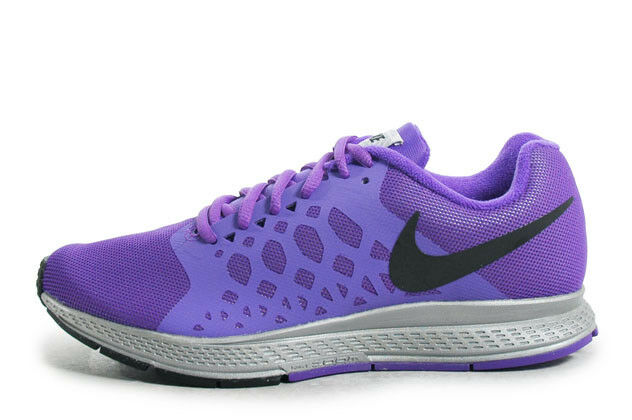 buy online 5513f 8070b Women Nike Zoom Pegasus 31 Flash 683677 005 Size 12 Silver Black HYPER  Grape for sale online   eBay