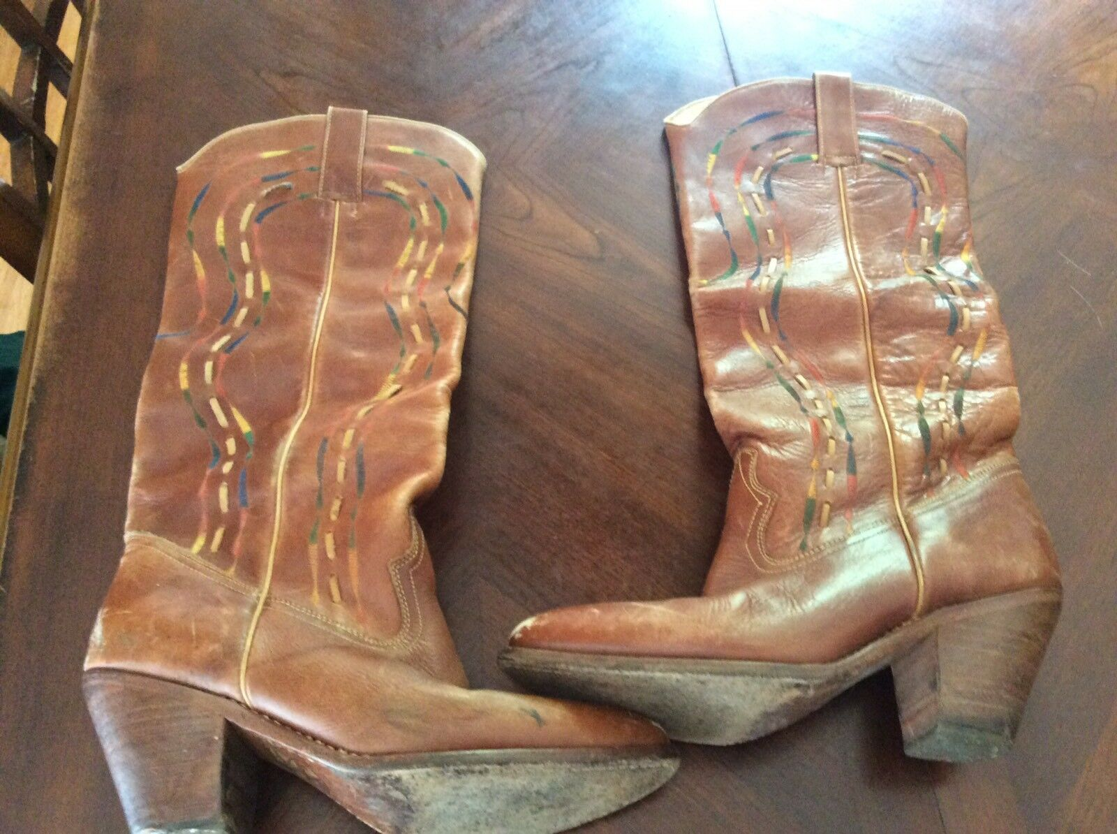 Vintage SAMELLO Exclusively for Circle Kane women's western Boots 7D