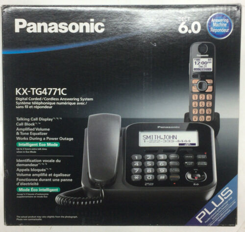 OEM Original Panasonic KX-TG4771C DECT 6.0 Corded//Cordless Phone System