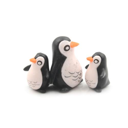5Pcs DIY Penguin Ornaments Miniature Gardening Decoration Dollhouse Mini Gift HV