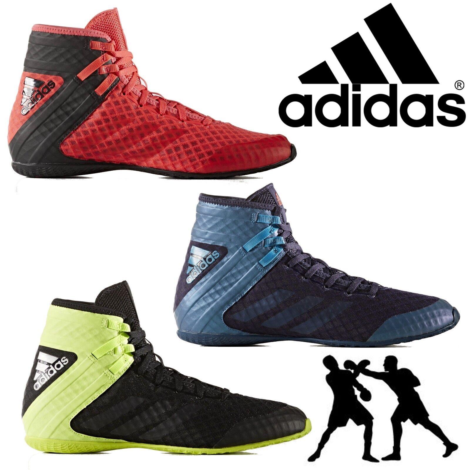 Adidas Botas De Boxeo Pro Speedex 16.1 para hombre Pro Boxeo Deportes Con Cordones Zapatillas Peso Ligero 18d35f