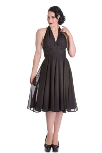 Hell Bunny 4556 monroe dress black schwarz Retro Rockabilly 50er Jahre 157072