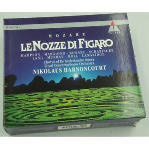 HARNONCOURT-HAMPSON-MARGIONO-le-nozze-di-Figaro-MOZART-3CD-039-s-Box-1994-Teldec-EX