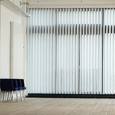 Gardinia Lamellenvorhang Komplettanlage 127mm | 100-300 x 260cm - Struktur weiß