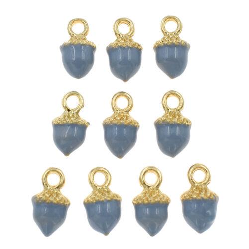 10 Pcs Enamel Pendants Heart Star Shape For Necklace Jewelry Making Accessories