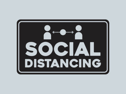 Social Distancing Wall and Window Vinyl Sticker Decal