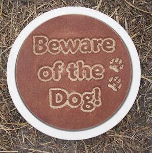 "Beward of the dog 1/8th"" plastic mold concrete plaster ..."