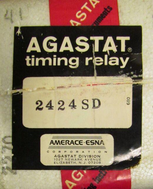 AGASTAT 2424SD 250VDC 2.5-50 Second Timing Relay Timer