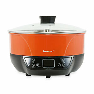 Red with Black Multi-functional Automatic Lifting Hot Pot