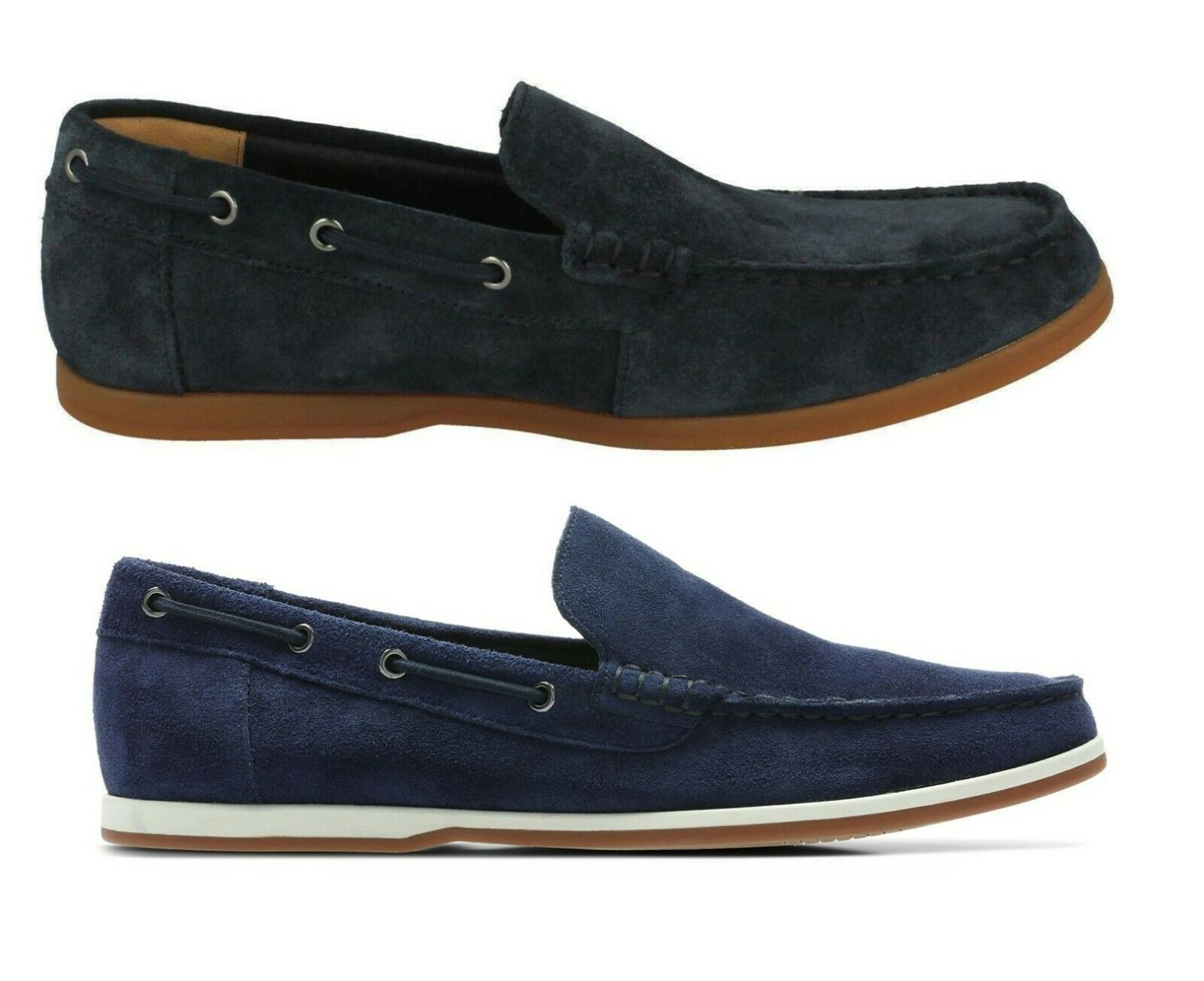 CLARKS Morven Sun Mens Suede Slip On shoes