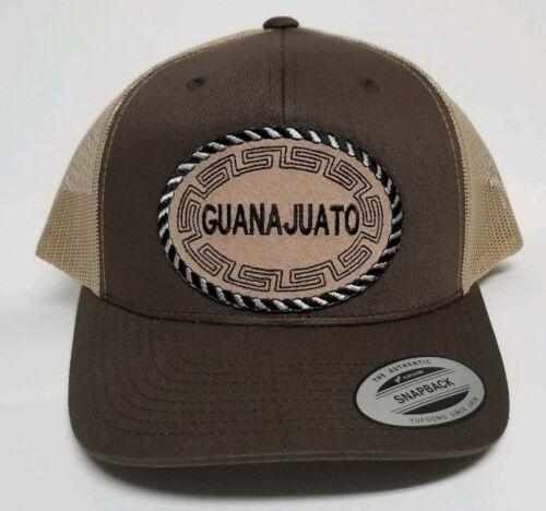 GUANAJUATO MEXICO HAT MESH TRUCKER BROWN KACKY SNAP BACK  ADJUSTABLE  NEW