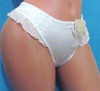 Black White Brown Lacy Silky Satin French Thong Sissy Bikini Panties Xs S M L