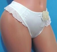 Black White Brown Lacy Silky Satin French Thong Sissy Bikini Panties Xs S M L