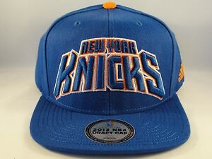 New York Knicks NBA Draft Cap Snapback Hat Adidas Blue 886836106136 ... afefd84532c
