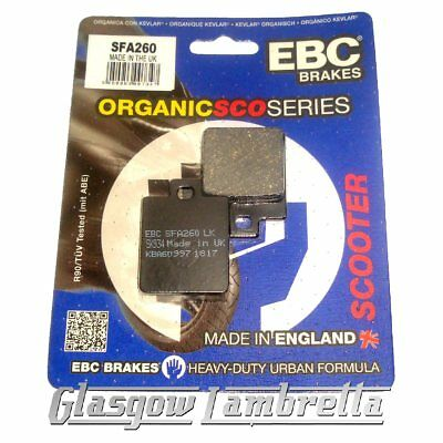 1996 to 1999 EBC Organic FRONT Disc Brake Pads SFA260 Piaggio Zip 50 RST