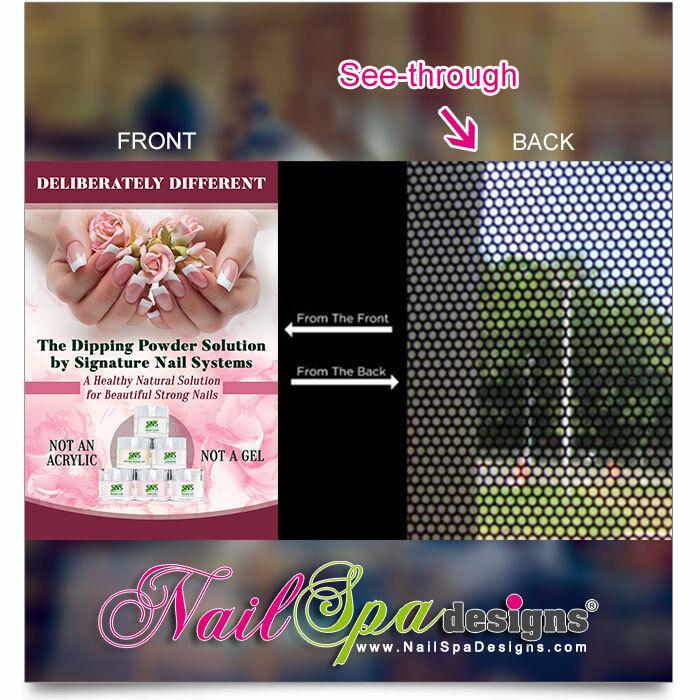 Mesh Vinyl Nail Salon Poster - SNS Dipping Powder Solution Mesh Vinyl    P-201