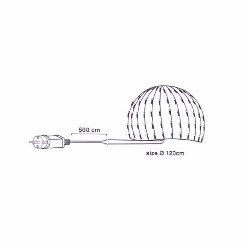 144 LEDs Lichternetz Ø120cm 1,2m Lichterkette Warmweiß für Buchsbaumkugel