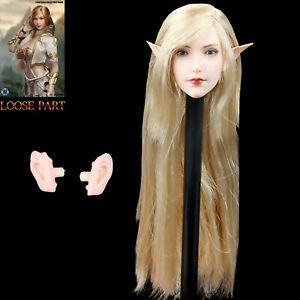 SUPER DUCK 1//6 Female Head Sculpt SDH005C Carving Fit 12/'/' Action Figure Doll
