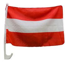 ÖSTERREICH FAHNE Österreichische FLAGGE 30 x 46 cm mit Halter NEU OVP