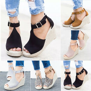 Women-Ankle-Strap-Platform-Peep-Toe-Espadrilles-Shoes-Wedge-Summer-Beach-Sandals