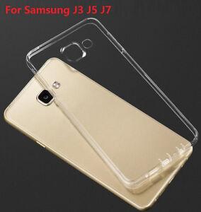 For Samsung Galaxy J3 J5 J7 2015 J320 2016 0.33mm Soft TPU Silicone Case Cover
