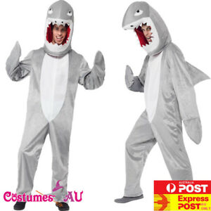 Adult Shark Costume Mens Animal Mascot Fancy Dress Party Cosplay Jaws Bodysuit
