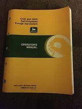 John Deere 5730 and 5830 Self-Propelled Forage Harvesters Operators Manual
