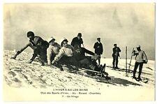 CPA 73 Savoie Aix-les-Bains Revard Club des sports d'hiver luge bobsleigh animé