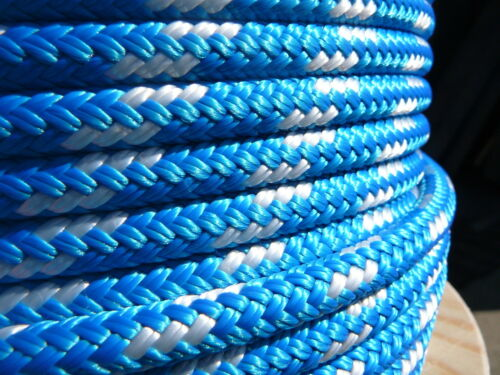 "Dacron Sailboat Rope 5//16/"" x 200/' Blue//White NovaTech XLE Halyard Sheet Line"