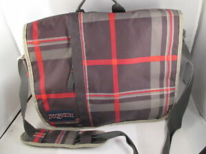 e01c71e9cc24 Details about JanSport Messenger Bag Market Street Blue Plaid Laptop Bag 15
