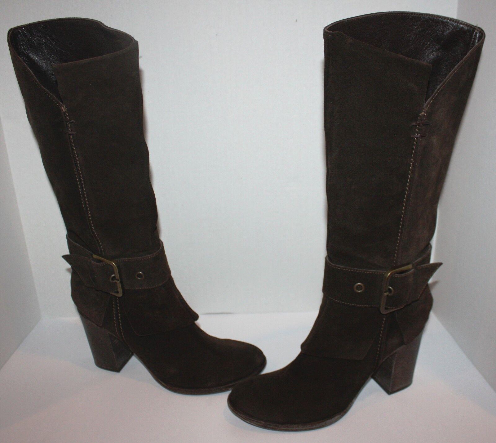 Para Mujer ahora Italia Marrón Gamuza botas botas botas Talla 39,5   Us 9.5 dac117