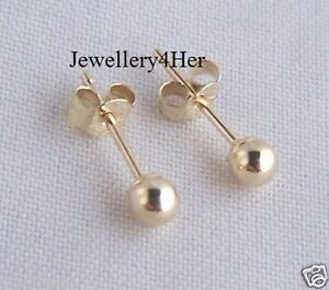 Image Is Loading Kids S 9ct Gold 3mm Small Plain Round