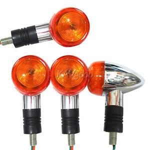4x Chrome ABS Turn Signals Fits Honda VTX 1300 C R S RETRO VT750 VT1100 VLX600