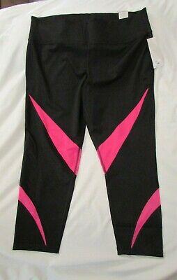 "Black/pink Alert Ladies ""livi Active"" Size 22/24 Sculpting Quick Drying 7/8 Legging"