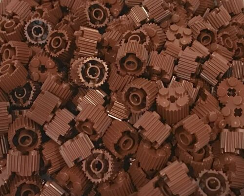 10x Lego Brick Reddish Brown Round 2x2 with Grille 92947
