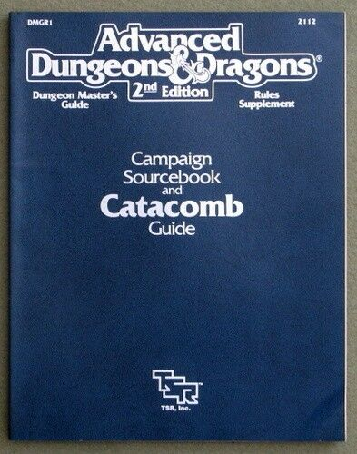 TSR ADVANCED DUNGEONS & DRAGONS 2e Campaign Sourcebook and Catacomb Guide