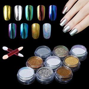 Nail art chrome powder metallic mirror effect holo rainbow sponge image is loading nail art chrome powder metallic mirror effect holo prinsesfo Choice Image