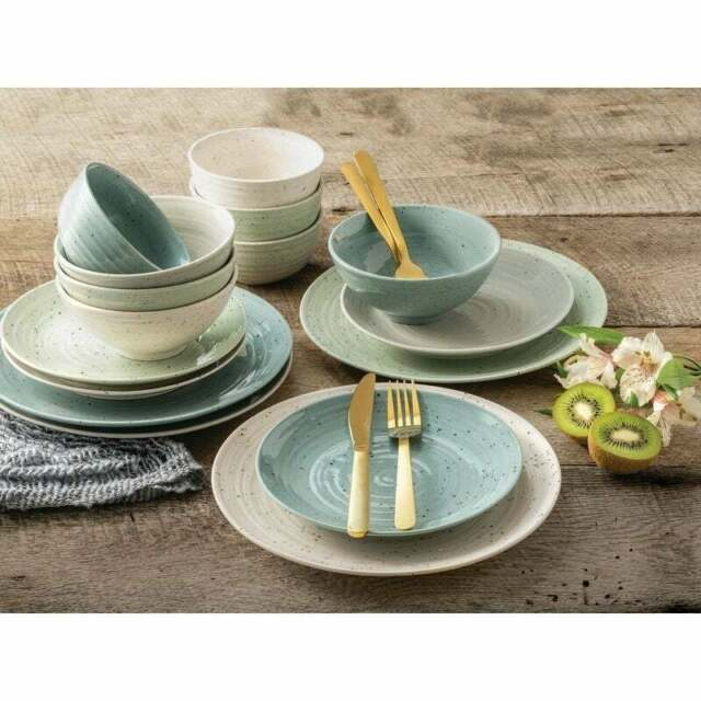 Melange 32 Piece Contempo Cantina 2 Tone Stoneware Dinner Set Place Setting For For Sale Online Ebay