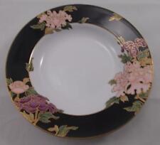 Fitz and & Floyd - CLOISONNE PEONY rimmed soup / dessert bowl 23.5cm UNUSED