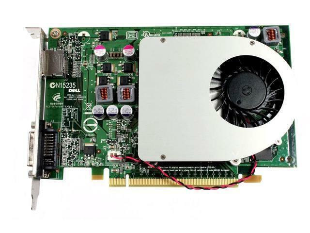 Dell Nvidia GeForce GT330 1GB DDR3 PCI-E Full Height Video Card DVI-I DP