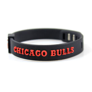 Image Is Loading Basketball Bracelet Chicago Bulls Silicon Wristband Strap Adjule