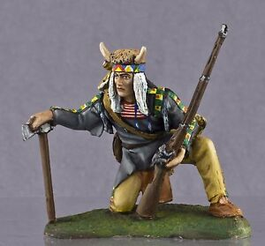 Zinnfigur-Native-American-Sioux-Tribe-In-1-model-1-32-Groesse-54mm